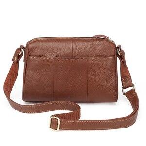 Image 3 - Женская сумка мессенджер из 100% натуральной воловьей кожи, винтажная маленькая сумка через плечо для девушек, мм2315