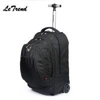Новый Бизнес Rolling Чемодан Spinner рюкзак дорожная сумка ролики тележки нести на колесах школьная сумка