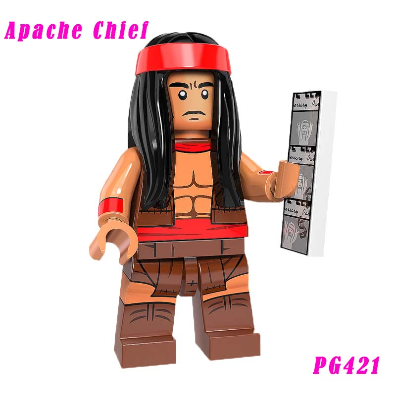 Apache Chief Mini Doll Single Sale Dc Super Heroes Crazy Quilt Star Wars Building Block Gift Toys For Children Pg421