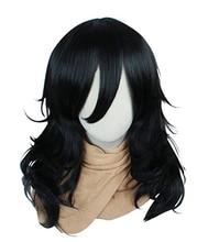 Pelucas de My Hero Academia Boku no Hiro Akademia Shota Aizawa, cabello negro rizado resistente al calor, peluca sintética de Cosplay del pelo + gorro de peluca