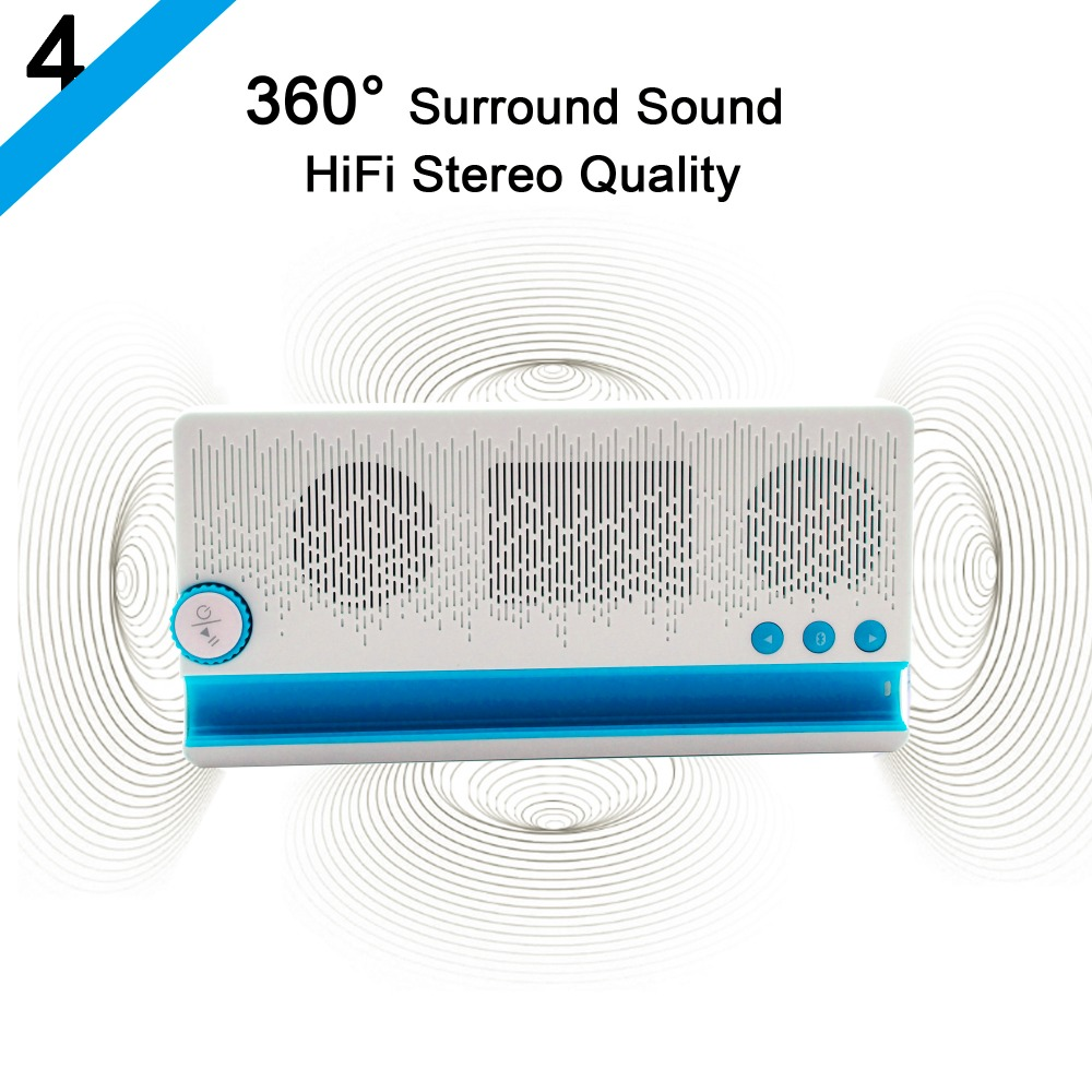 3 in 1 Multi function Bluetooth Speaker With Mobile Stand Holder 2100mAh Power bank Hands free Phone BT Speaker With MIC