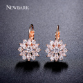 NEWBARK Luxury Ear Cuff Earring 6pcs Marquise CZ Formed Brilliant Flower Stud Earrings with Zircon Stone Women Birthday Gifts