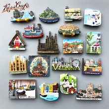Creative World Travel Fridge Magnet Souvenir Venice Canada Famous Building Refrigerator Stickers Decor message holder
