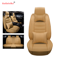 Kalaisike leather Universal Car Seat covers for DS all models DS DS3 DS4 DS6 DS4S DS5 auto styling car accessories auto cushion
