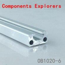 Произвольная резка 1000 мм 1020 алюминиевый экструзионный профиль, серебристого цвета
