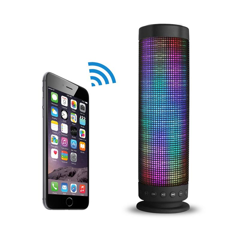 Portable Bluetooth Speaker 5 LED Light Modes DSP High Compatiable 4800mAh TF Slot Large Battery for iPhone, iPad, Samsung, Phone 2031q portable mini crystal rgb light speaker w tf slot black sivler transparent
