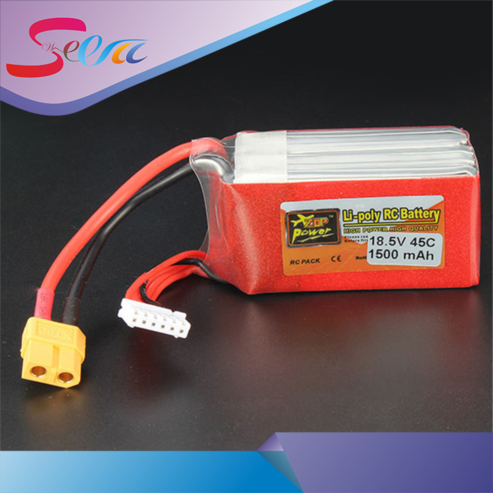 Hot New ZOP Power 18.5V 1500mAh 5S 45C Lipo Battery XT60 T Plug Rechargeable Lipo Battery RC Helicopter For RC Helicopter Part original wltoys v950 rc helicopter spare part 11 1v 1500mah battery in stock