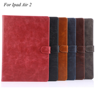 For Apple Ipad Air 2 Case Anti Dust Magnetic Luxury PU Leather Coque 9 7 Inch