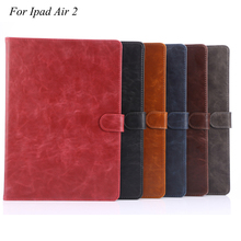 For Apple Ipad Air 2 Case Anti Dust Magnetic Luxury PU Leather Coque 9.7 inch Tablet Cover Cases For Apple Ipad Air 2 ipad 6(China)
