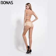 BONAS 20D Female Stockings Sexy Breathable Tights Spandex Summer Pantyhose Stretchy Slim Solid Womens Nylon