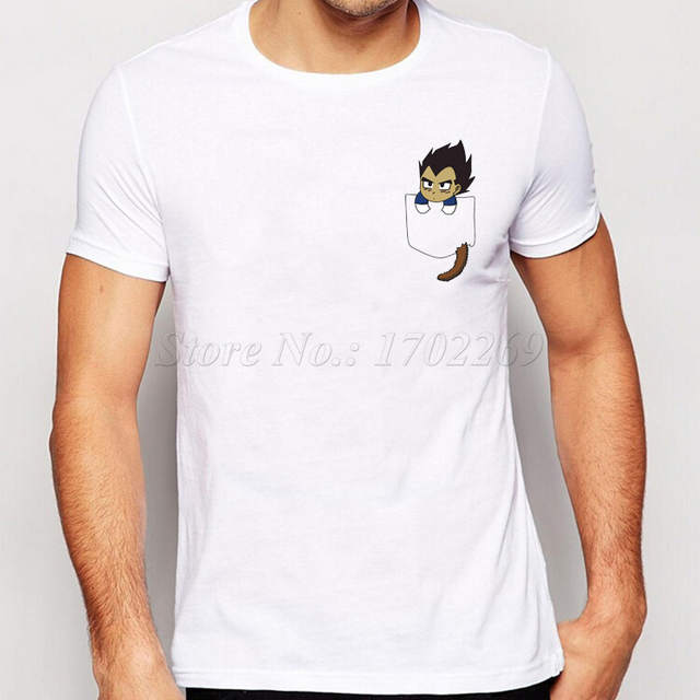 4c6749f15e3 placeholder 2018 New Fashion Son Goku In My Pocket Design Men t shirt  Creative Simple Casual Male