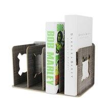 Dzoffice Творческий офисная техника деревянная полка Студент Книга стоят Творческий перегородка многоцветный Книга Держатель 4 файлы Bookends