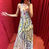 WD05476 Высокое качество Новая мода для женщин 2019 летнее платье роскошный известный бренд Европейский дизайн вечерние платья