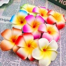 50 PCS (7 cm/flower) artificial multicolor egg flower heads/PE foam Hawaiian vacation tire DIY wedding reception home decoration