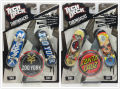 2 unids NUEVA Diapasón throwbacks 96mm mini Skateboard Decks Tech Original paquete ZOO YORK niños juguete E28A