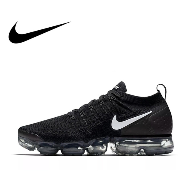 new styles 5520c c4d64 Original Authentic NIKE AIR VAPORMAX FLYKNIT 2 Mens Running Shoes Sneakers  Breathable Sport Outdoor Good Quality
