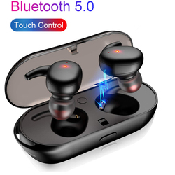 Bluetooth 5.0 Earphone Mini TWS Wireless Headset Touch Control Sport Ear Stereo Cordless Earbuds With Charging box