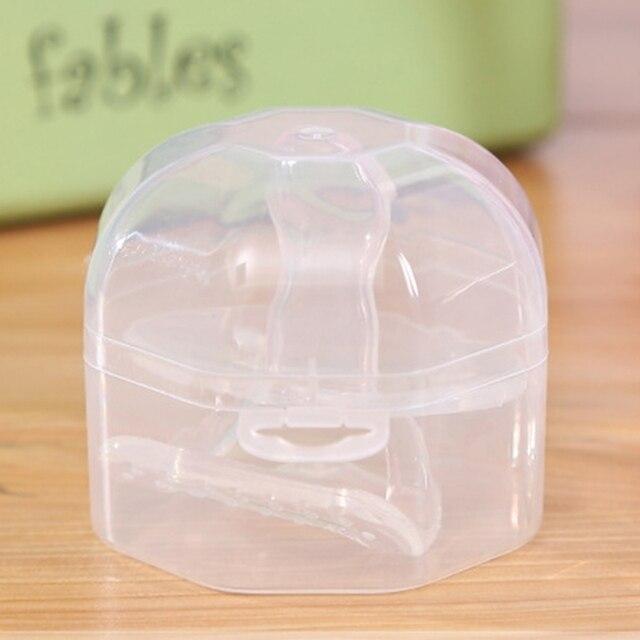 1 Pc portátil transparente bebé recién nacido bebé niño chupete pezón cuna soporte caja de almacenamiento contenedor para pezón-15