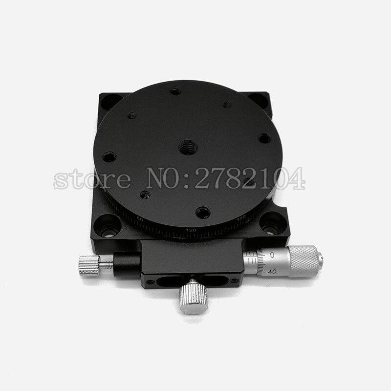 R Axis 60mm plataforma giratoria Manual deslizamiento etapa precisión rodamiento carga lineal etapa 29.4N 60mm RS60-L - 3
