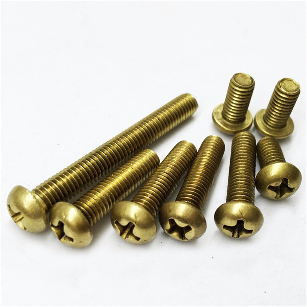 """16 Rectangular Head Solid Copper Bolts 3//8/""""-16 w// Brass Nuts"""