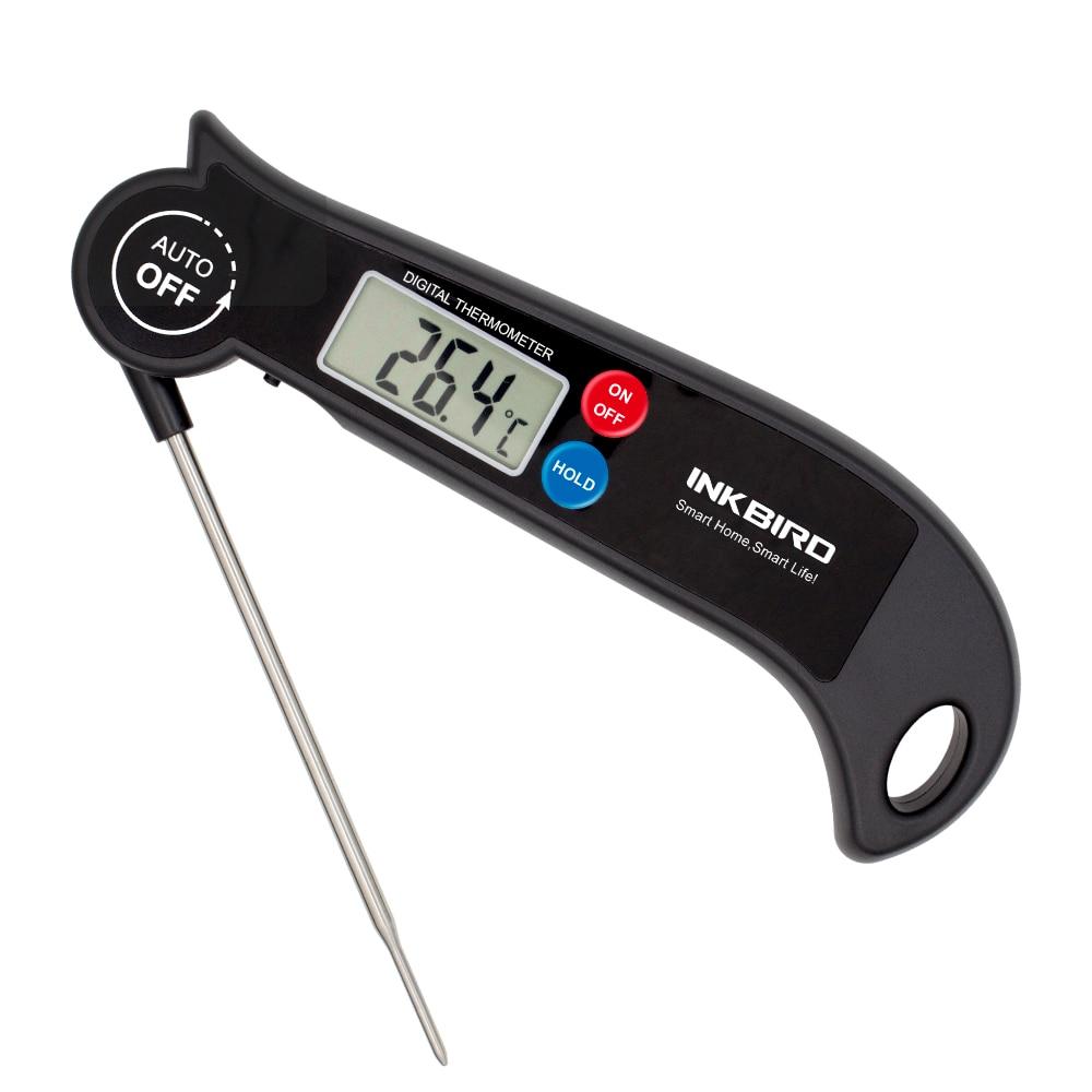Aletler'ten Sıcaklık Cihazları'de Inkbird ultra hızlı dijital anında oku gıda pişirme et termometresi 4 inç katlanabilir paslanmaz çelik prob HET F001 title=