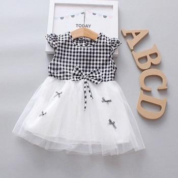 Summer Baby Girl Dress for Newborns Plaid Princess Dress Infant 1 year Girl Baby Birthday tutu Dress Toddler Dresses Vestidos