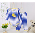4 Pcs/Lot Baby Clothes Boys Girls Cotton Pajamas Pants Sets Pants+Long Sleeved Bodysuits 3~24 Months Underwear Autumn V30
