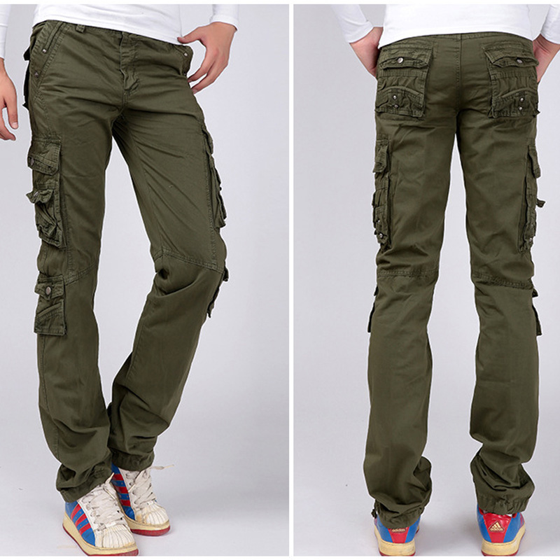 2019 Multi Pocket Military Style Army Camouflage Cargo Pant Men/Women Camo Jogger Casual Cotton Trousers Pantalon Homme Trousers