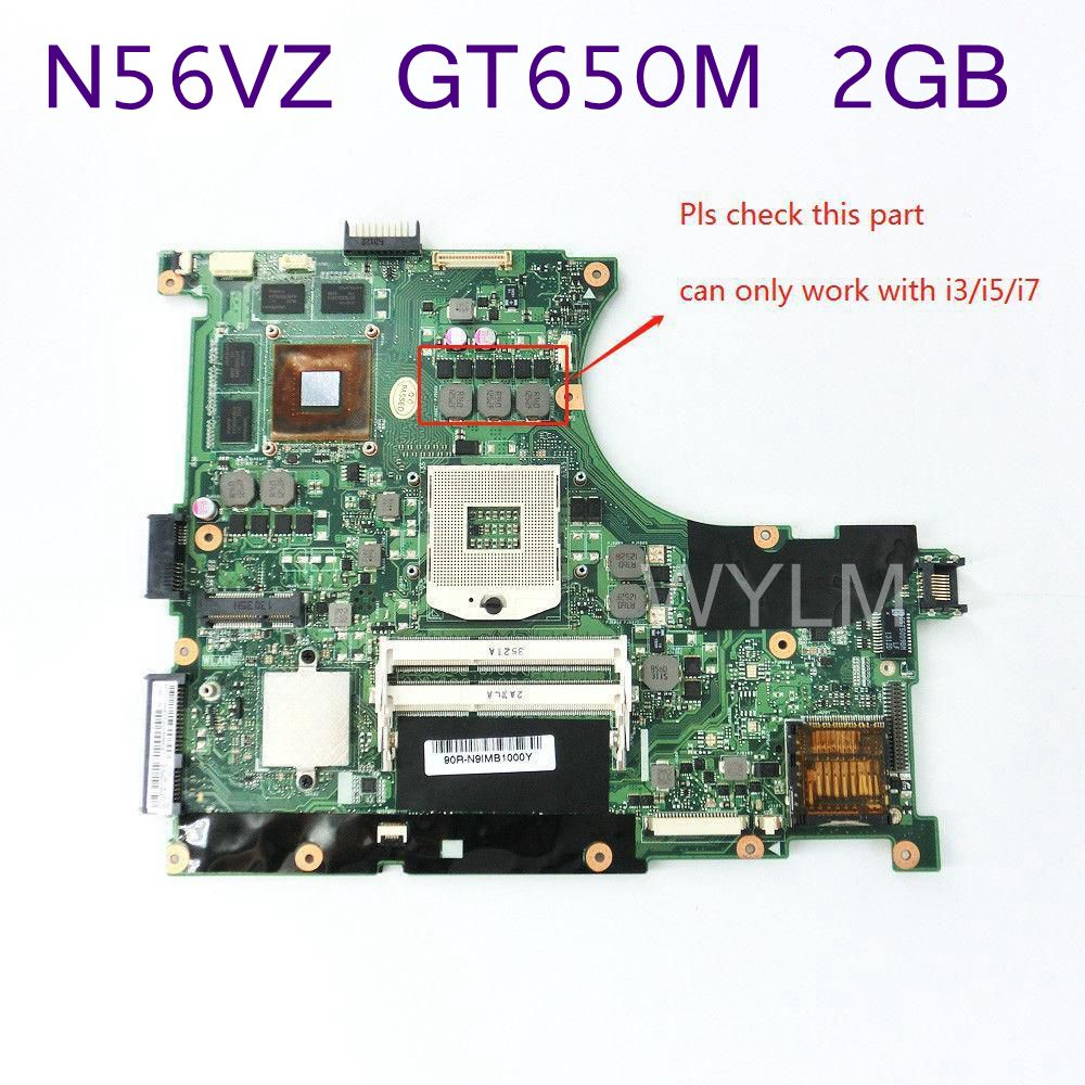 N56VZ GT650M 2GB REV2.3 Mainboard For ASUS N56VZ N56VM N56V N56VJ N56VV N56VB Laptop Motherboard 60-N9IMB1100-D18 Free Shipping аксессуар xo 3в1 usb lightning microusb type c white nb18