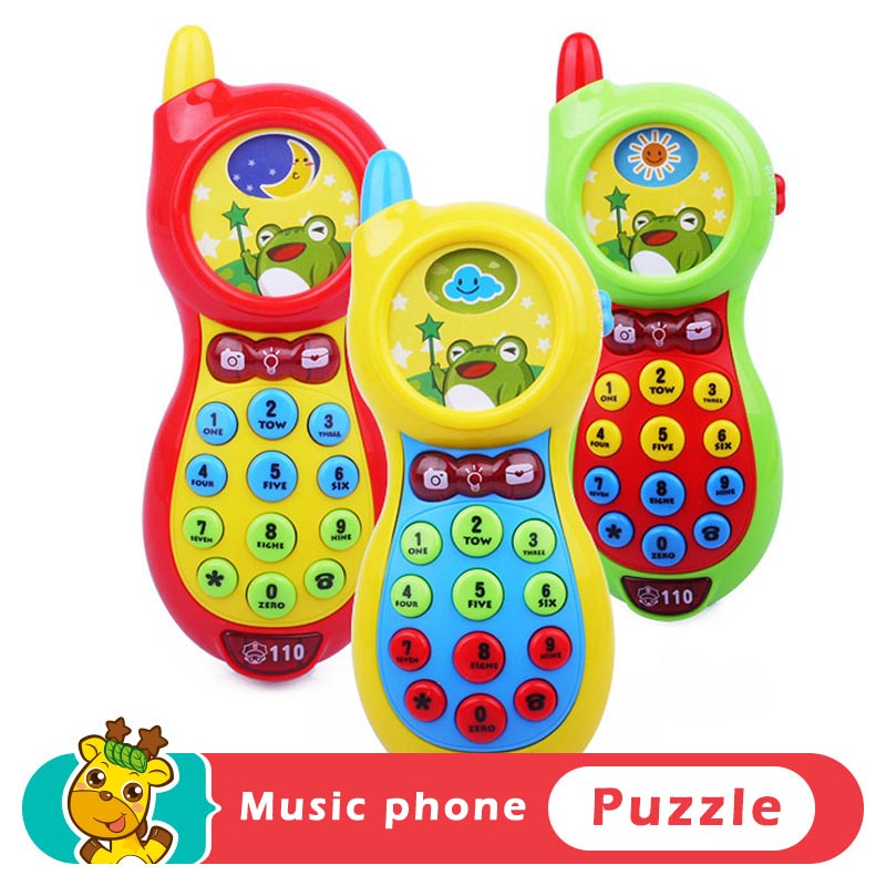 New Educational Toys 1 Piece Baby Kids Education Phone Learning Mobile Phone Toys, Music Mobile Education Toys New Years Gifts