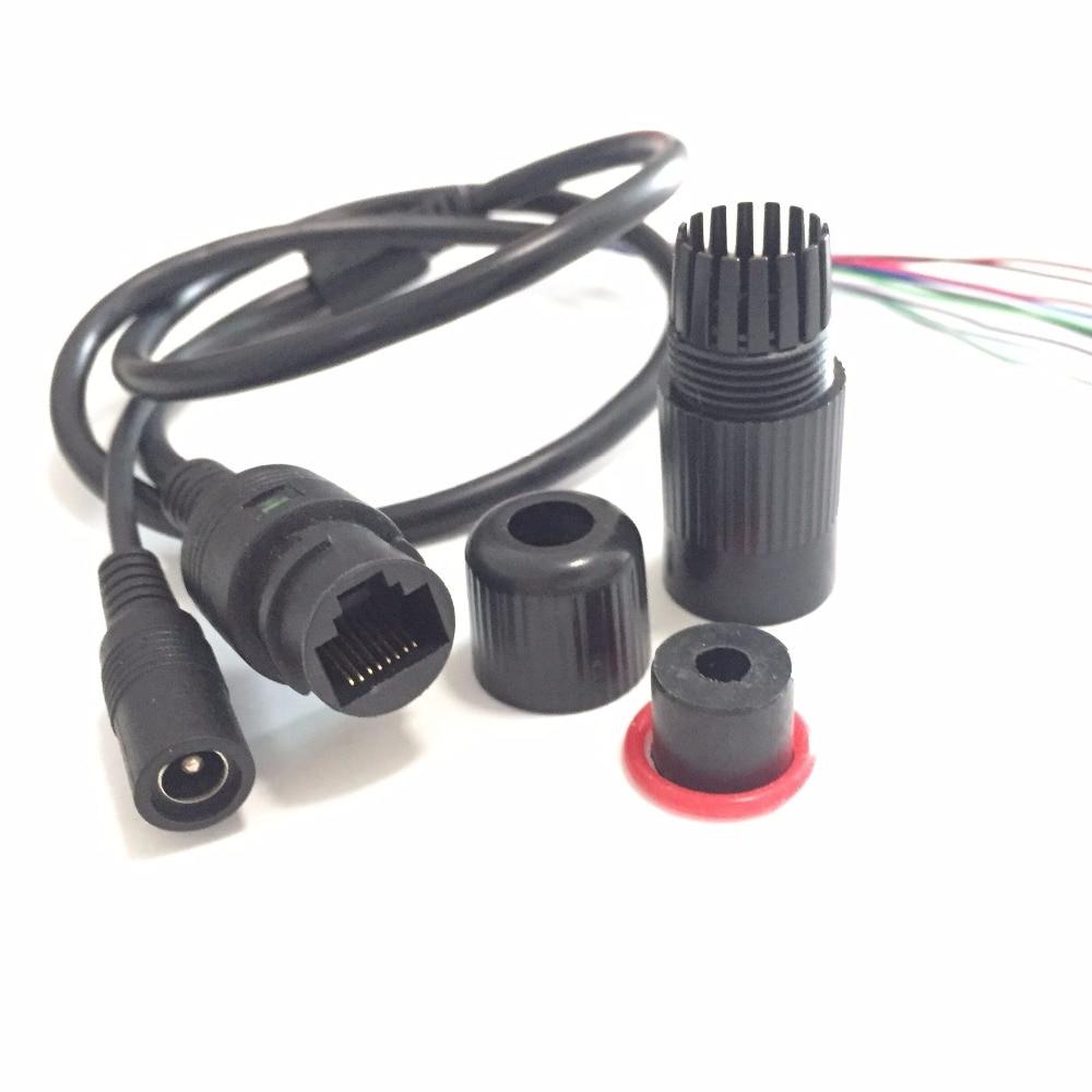 CCTV IP Network WiFi HD Camera PCB Module Video Power Weatherproof Cable RJ45 Female & DC Male