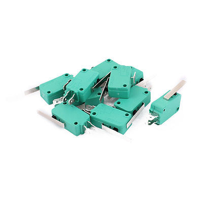 10Pcs Momentary Long Lever Arm SPDT 1NO 1NC Long Life Micro Limit Switch Green KW3-0Z Hinge Lever Length 28mm patricia schlorke adult women and coronary heart disease