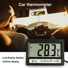 Double Temperature Meter Digital Display Electronic Thermometer Clock For Aquarium Refrigerator Freezer Car Air Conditioning