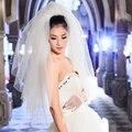 Precio al por mayor más calientes de múltiples capas de velos de novia barato hermoso de la vendimia corta con peine
