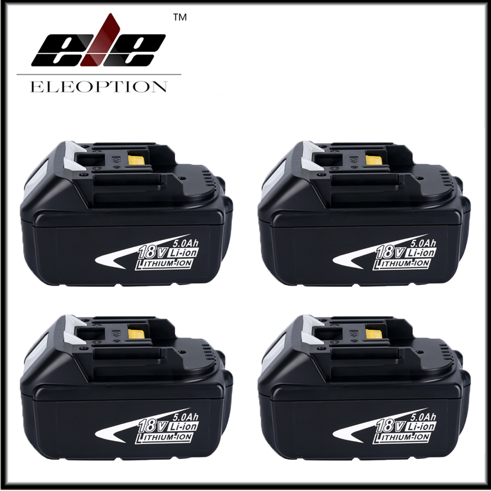 4x Full 5000mAh 18V Battery with LED Indicator for Makita LXT Lithium-Ion Power Tools 194205-3 BL1830 BL1850 BL1840