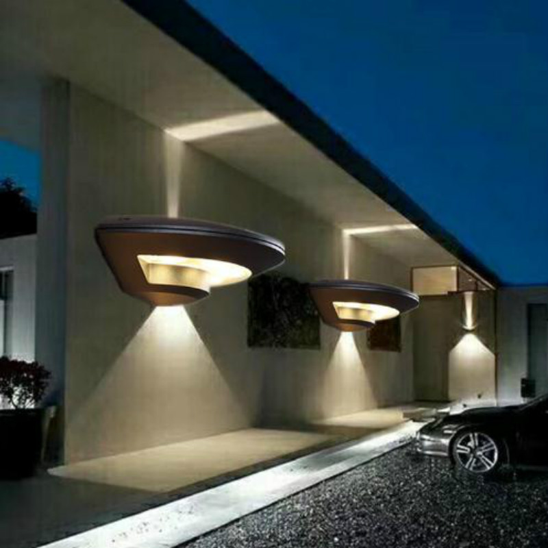 New Aluminum Alloy 4W Oval Lamp Ip44 LED Outdoor Lighting Wall Lamp Waterproof Balcony Garden Villa Corridor Living Room