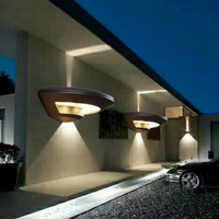New Aluminum Alloy 4W Oval Lamp Ip44 LED Outdoor Lighting Wall Lamp Waterproof Balcony Garden Villa Corridor Living Room