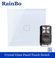 Crystal Glass Panel Switch Wall Switch EU Touch Switch Screen Wall Light Switch 1 Gang 1