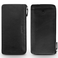 QIALINO Original Luxury Phone Case for iPhone XR Genuine Leather Sleeve Pouch Case for iPhone XS Max Cover , Size: 10 x 19.5cm