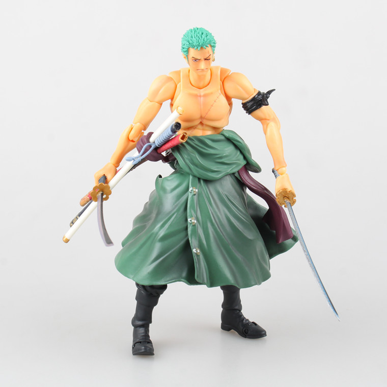 anime one piece two years later zoro Three knife flow pvc action figure classic Variable Action model doll toy fred blunt one two three