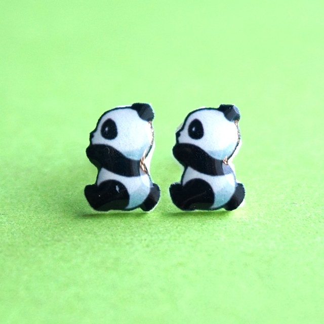 Women Panda Earrings For S Cute Accessories 925 Sterling Silver Pin Stud Casual Newest Jewelry