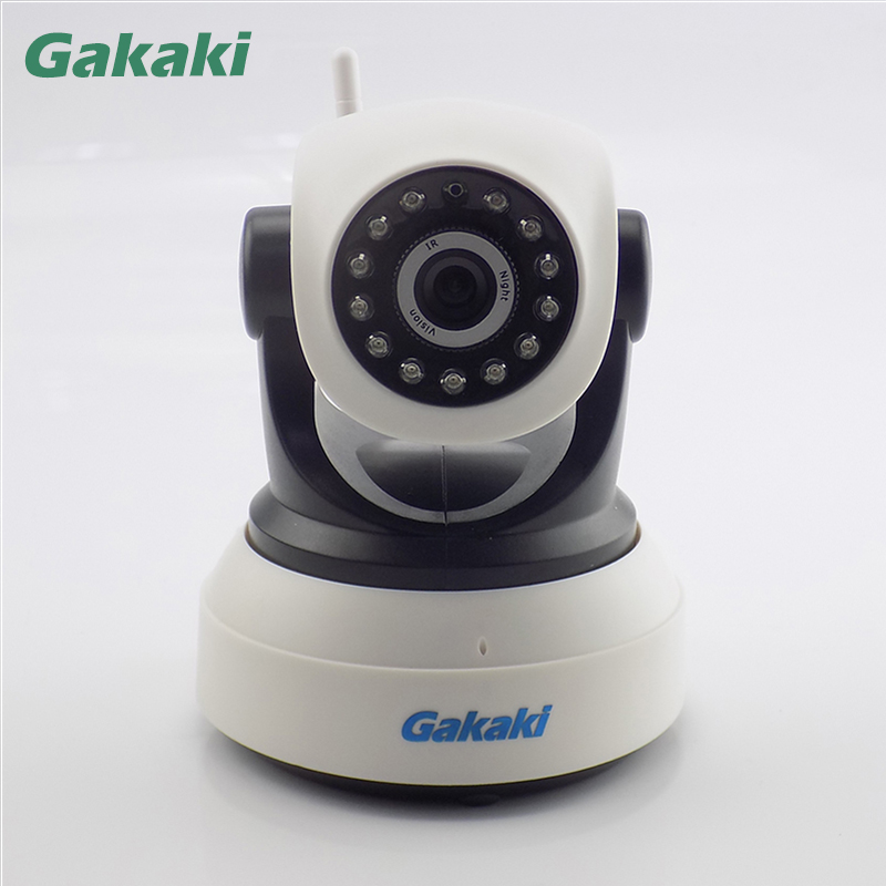 Gakaki Wifi Wireless IP Camera Baby Monitor Audio Record Surveillance Onvif Network Night Vision CCTV Home Protection Security 12pcs professional makeup brushes eye shadow foundation lip brush set cosmetic tool eye face cosmetic make up brush tool kit