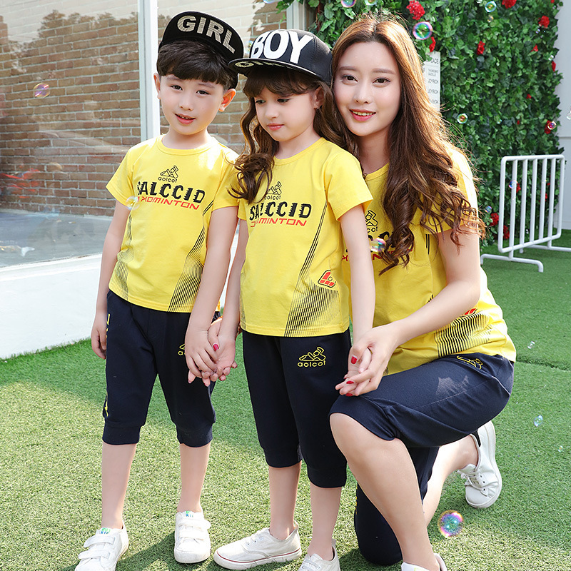 The Kindergarten Pupils Summer Uniforms 2016 New Cotton Children's Class Service Teachers Wear Short Sleeved Suit