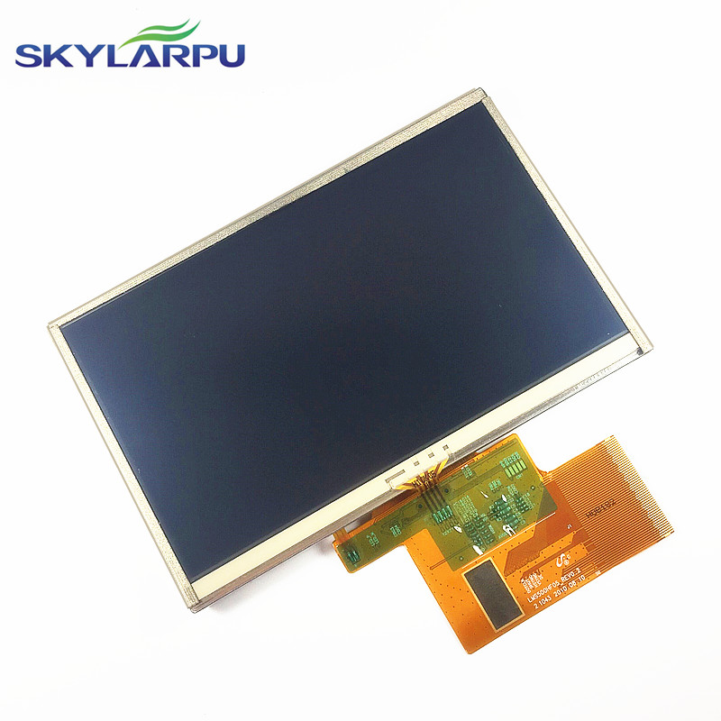 skylarpu 5 inch For TomTom XXL IQ Routes Full GPS LCD display screen with touch screen digitizer panel free shipping in stock 100% tested new original 5 5 for viewsonic v500 v500 3 full lcd screen display touch panel with tracking number