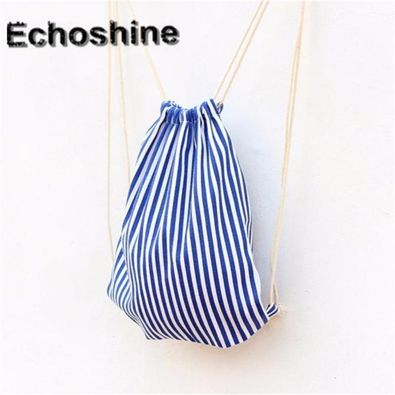 af99f44f6e144 سفر المرأة حقيبة قماش bagpack مدرسة المراهقين الأزرق والأبيض عودة حزمة حقيبة  طوي حقيبة الإناث A0000