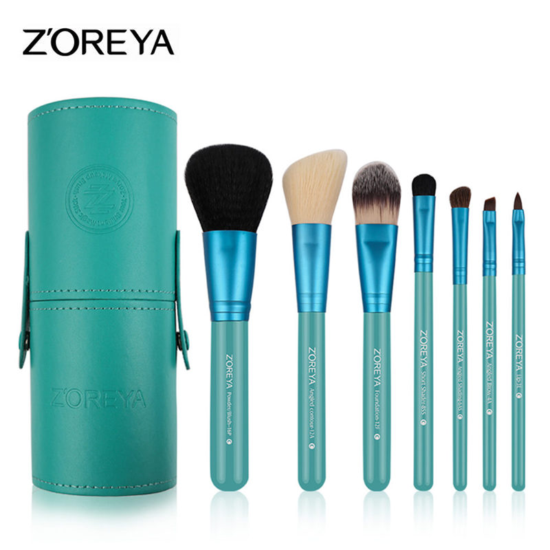 Clearance 7pcs Makeup Brushes Professional Goat hair Beauty Brush Set Cosmetic Makeup Foundation Powder Blush Angled Coutour