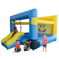 YARD Free Shipping Cartoon Inflatable Jumping Bouncer House with Slide Jumping Room Combo