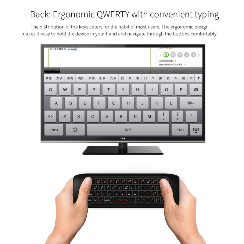2.4G Fly Air Mouse 3 Wireless Keyboard Remote Control Learning Keyboard Combo for Android Smart TV Box Computer