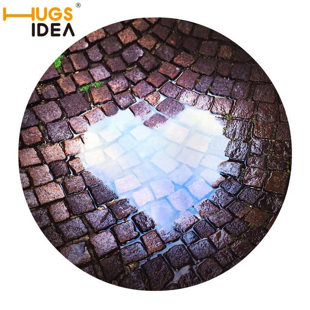 Hugsidea 3D trampa/Diseño del corazón piso Esterillas Alfombras ...
