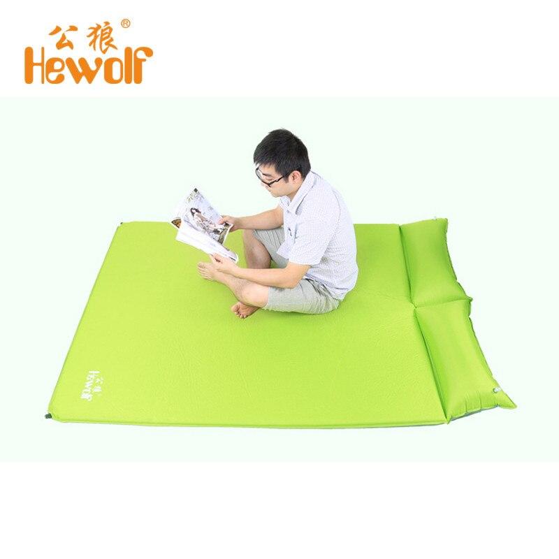 Hewolf 2 Человек Автоматическая надувной матрас коврик влаги с подушкой Блоуаут Доказательство Дизайн для активного отдыха